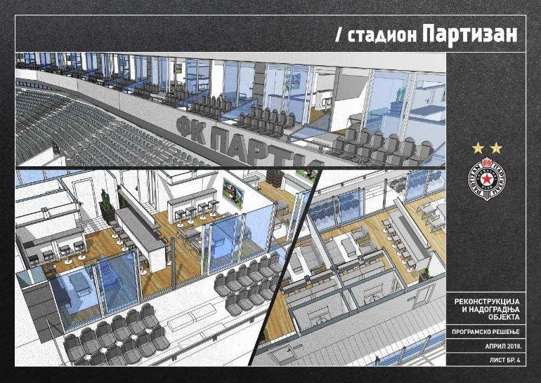 FOTO: Novi izgled stadiona u Humskoj! Pokrivanje, grejači, lože, podzemna garaža