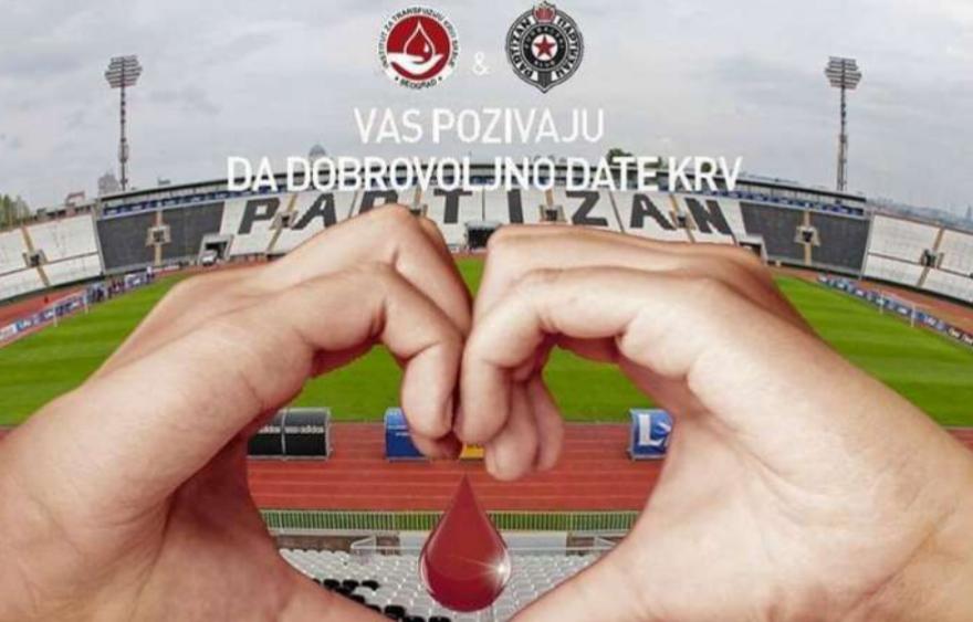 FK Partizan vas zove: Dajte krv, spasite život!
